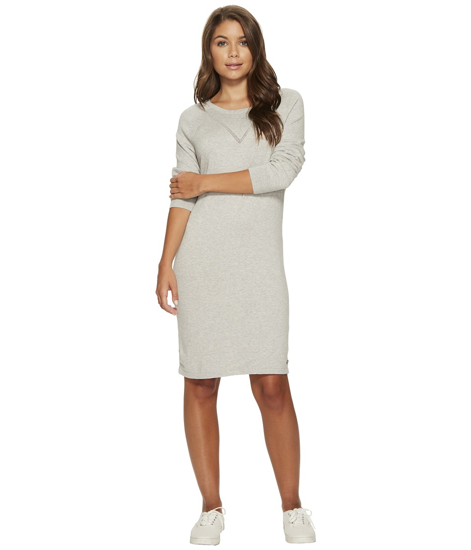 Roxy Winter Story Long Sleeve Button Back Dress (Heritage Heather) Women