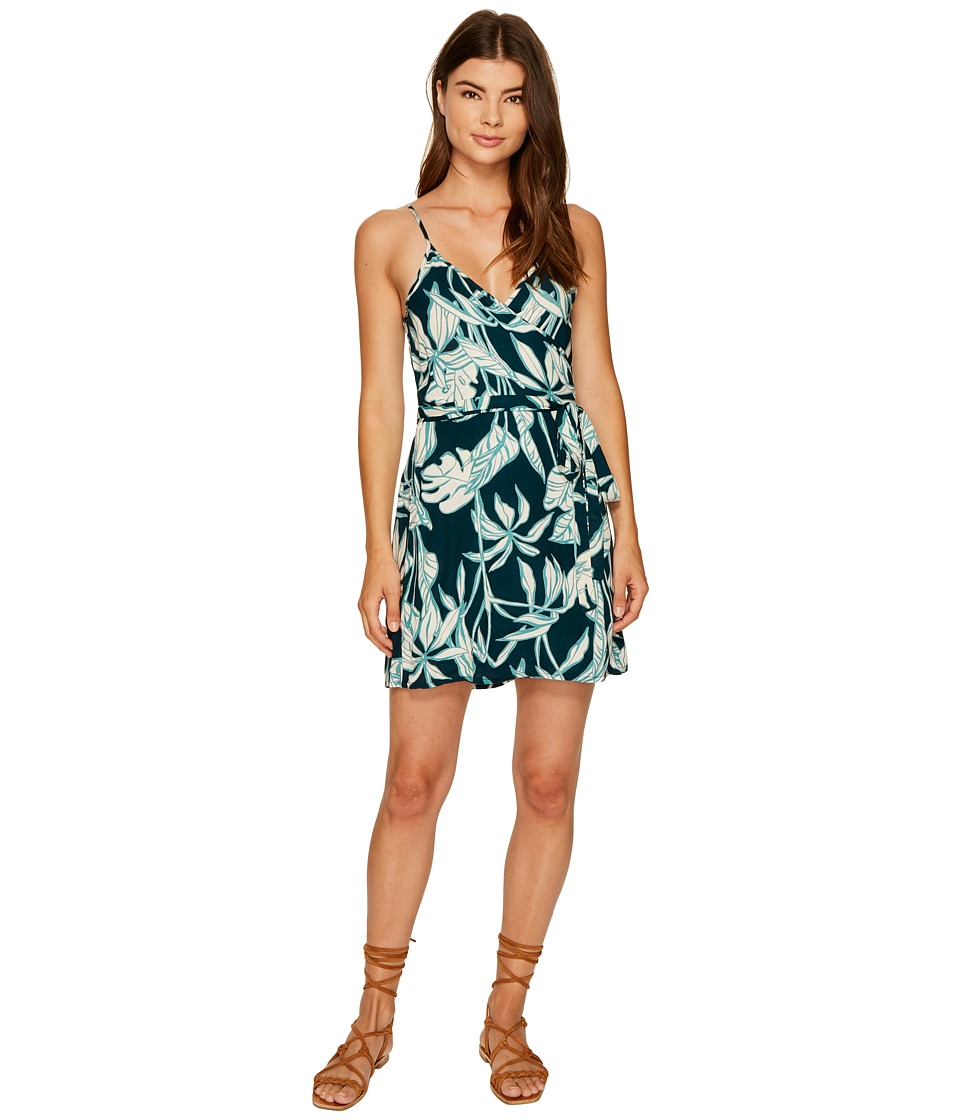 Roxy Drifting Current Wrap Dress (Reflective Pond Java Life) Women