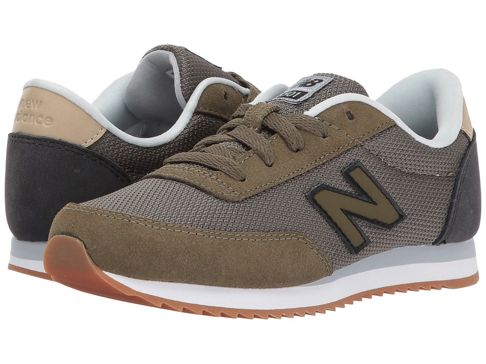 New Balance Kids KL501v1 (Little Kid/Big Kid) (Olive/Black) Boys Shoes