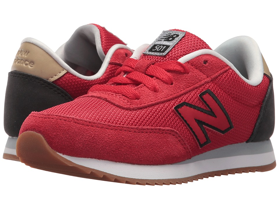 New Balance Kids KL501v1 (Little Kid/Big Kid) (Red/Black) Boys Shoes