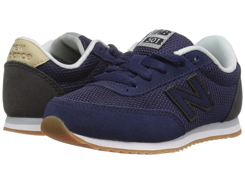 New Balance Kids KL501v1 (Little Kid/Big Kid) (Navy/Black) Boys Shoes