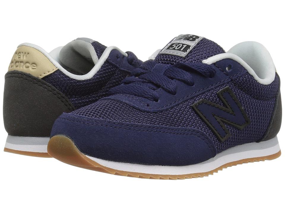 New Balance Kids KL501v1 (Little Kid/Big Kid) (Navy/Black) Boys Shoes