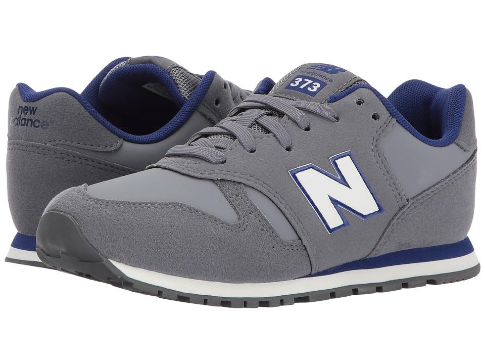 New Balance Kids KJ373 (Little Kid/Big Kid) (Grey/Navy) Boys Shoes