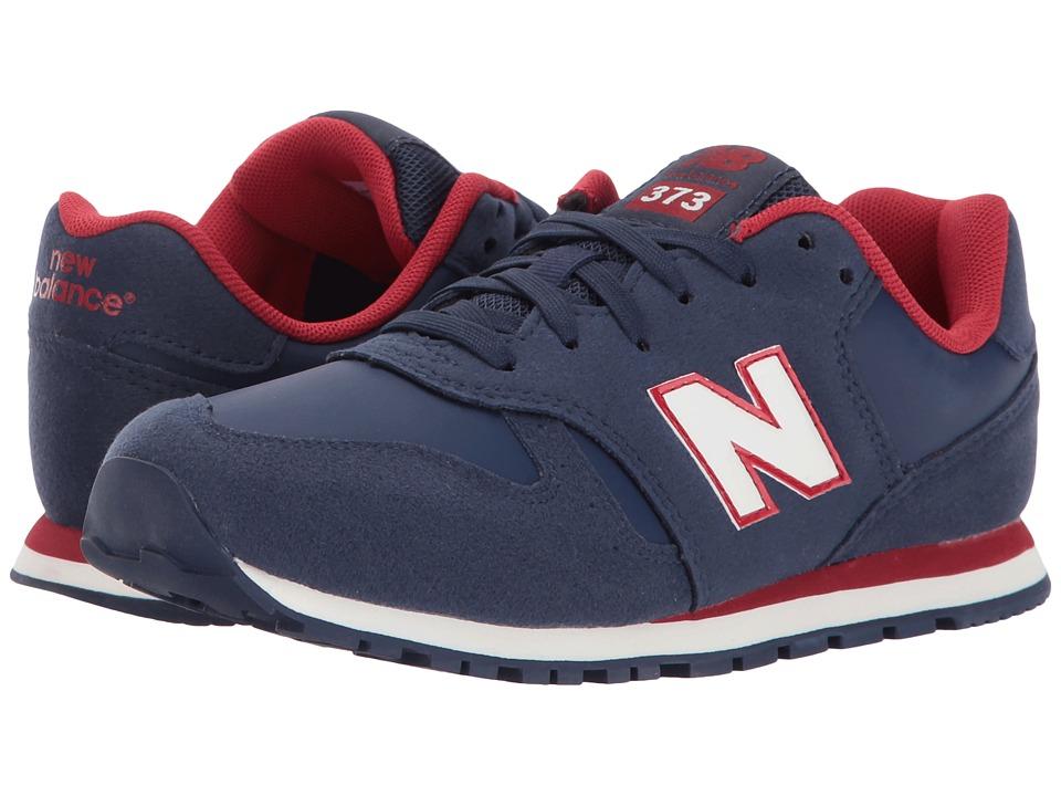 New Balance Kids KJ373 (Little Kid/Big Kid) (Navy/Red) Boys Shoes