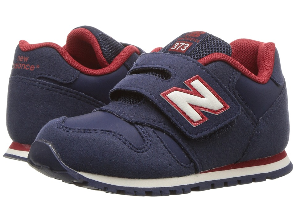 New Balance Kids KV373v1 (Infant/Toddler) (Navy/Red) Boys Shoes