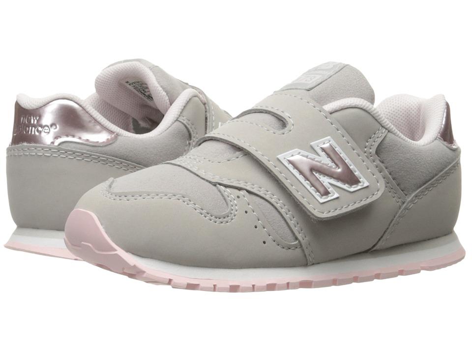 New Balance Kids KV373v1 (Infant/Toddler) (Pink/Grey) Girls Shoes