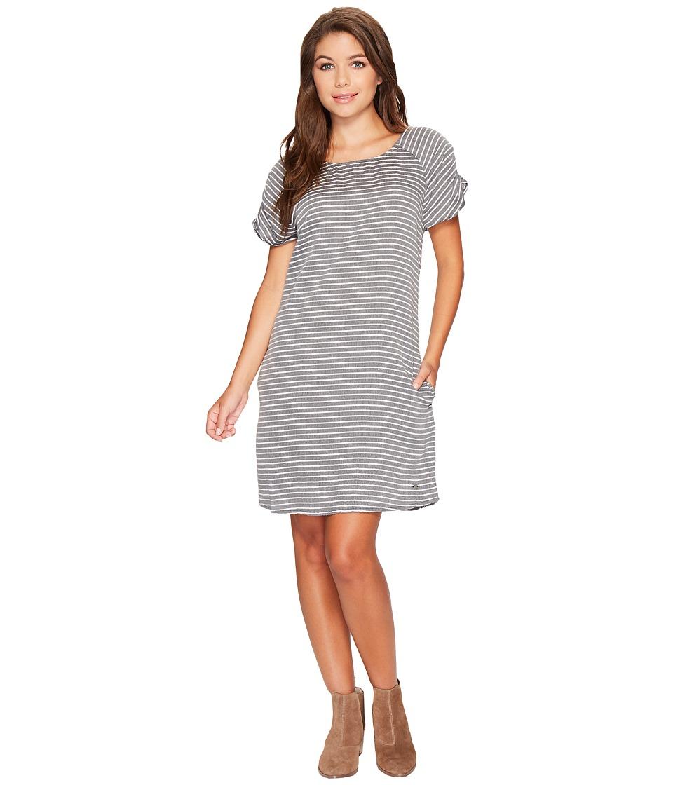 Roxy Peak Moments Striped Dress (Anthracite Three Lines Stripes) Women