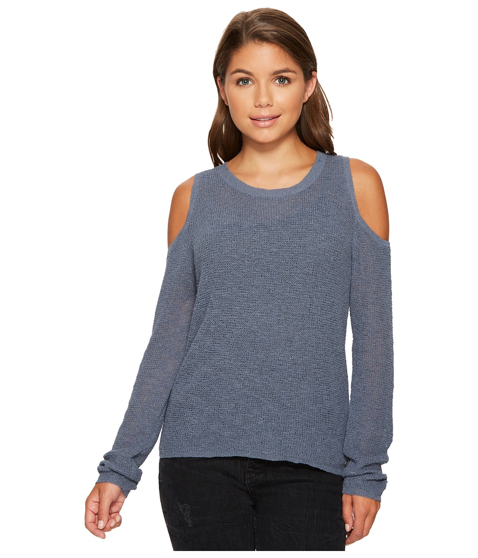 Roxy Unlimited Travel Cold Shoulder Sweater (China Blue) Women