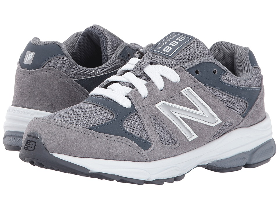 New Balance Kids KJ888v1 (Little Kid) (Grey/White) Boys Shoes