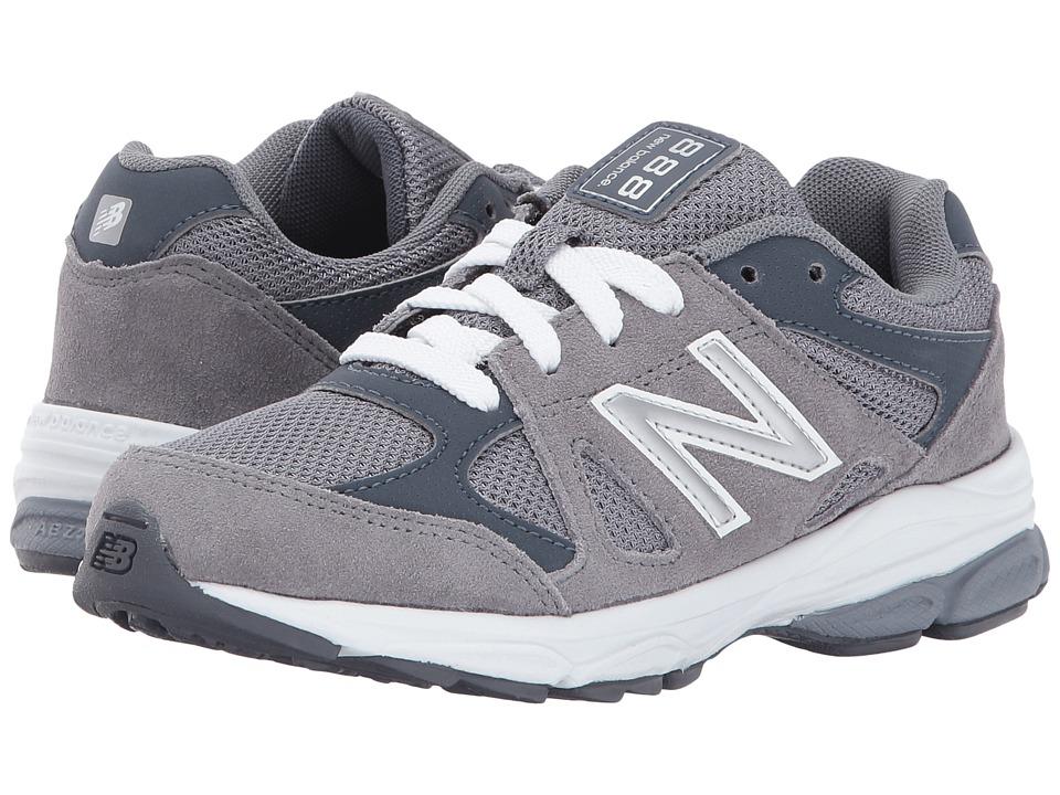 New Balance Kids KJ888v1 (Little Kid) (Grey/White) Boys Shoes