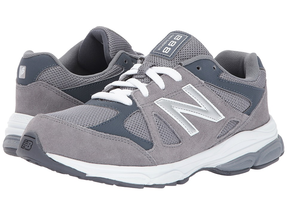New Balance Kids KJ888v1 (Big Kid) (Grey/White) Boys Shoes