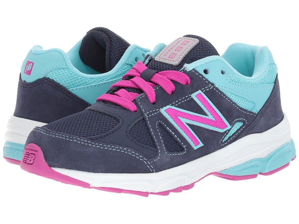 New Balance Kids KJ888v1 (Little Kid) (Blue/Purple) Girls Shoes