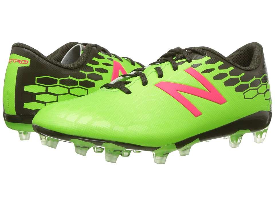 New Balance Kids SVRCFv2 Soccer (Little Kid/Big Kid) (Energy Lime/Military Dark Triumph) Boys Shoes