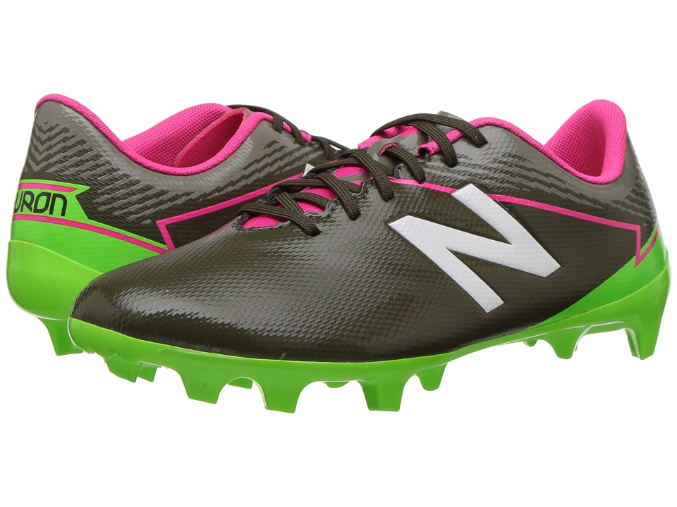 New Balance Kids SFDFv3 Soccer (Little Kid/Big Kid) (Military Dark Triumph/Alpha Pink) Boys Shoes