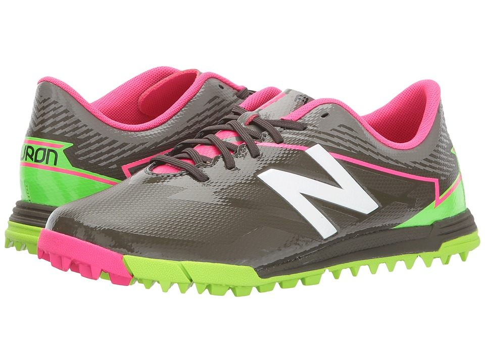 New Balance Kids SFDTv3 Soccer (Little Kid/Big Kid) (Military Dark Triumph/Alpha Pink) Boys Shoes