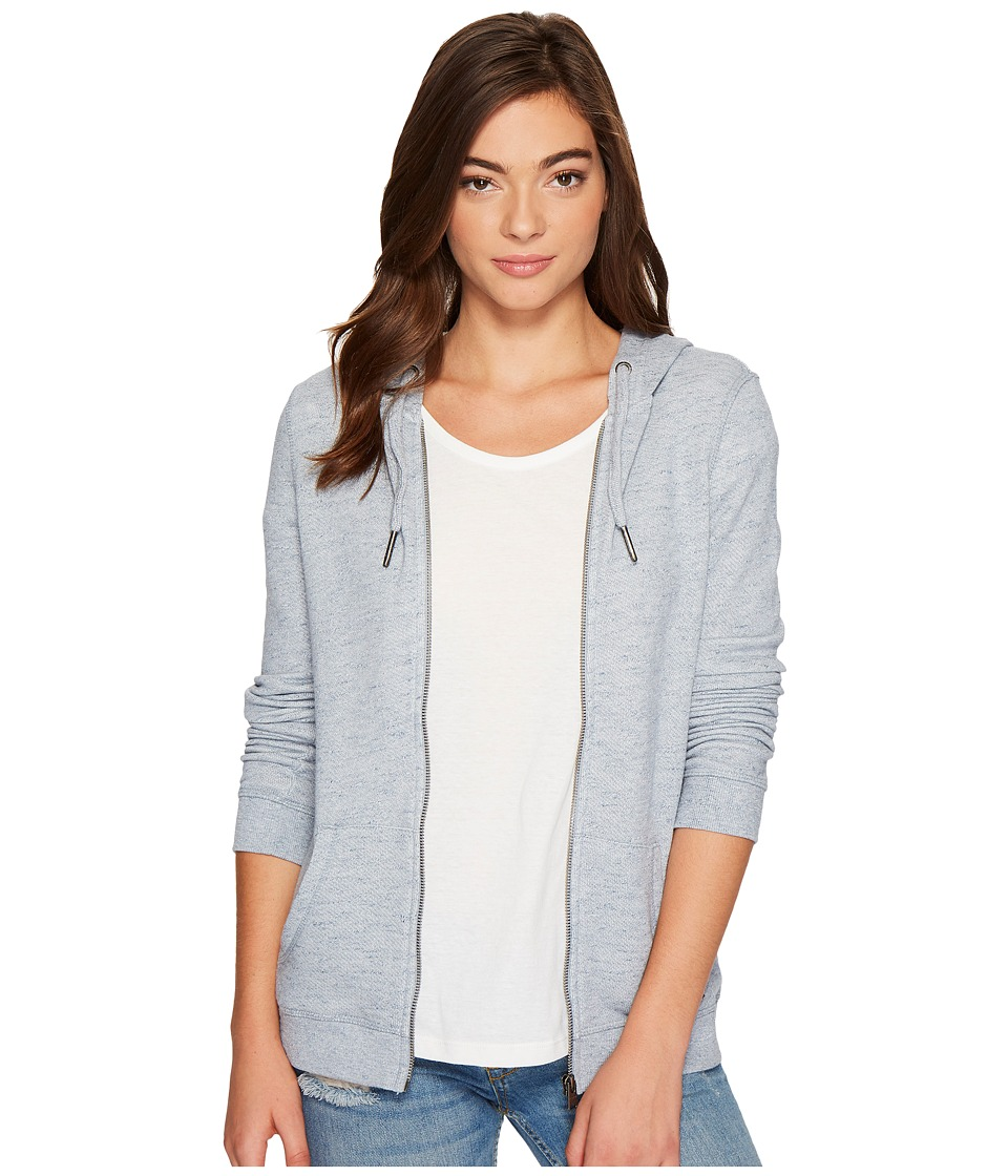 Roxy Trippin Zip Hoodie (China Blue Heather) Women