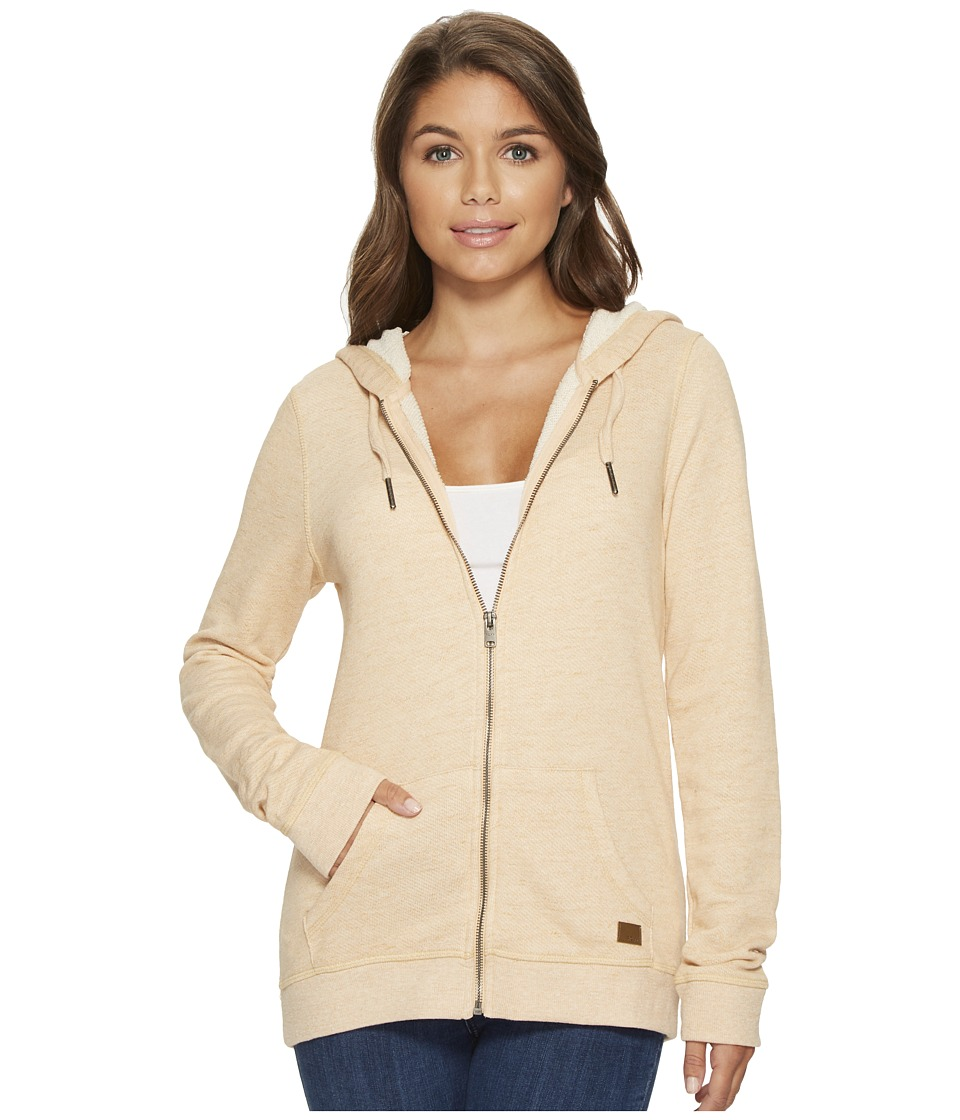 Roxy Trippin Zip Hoodie (Spruce Yellow Heather) Women