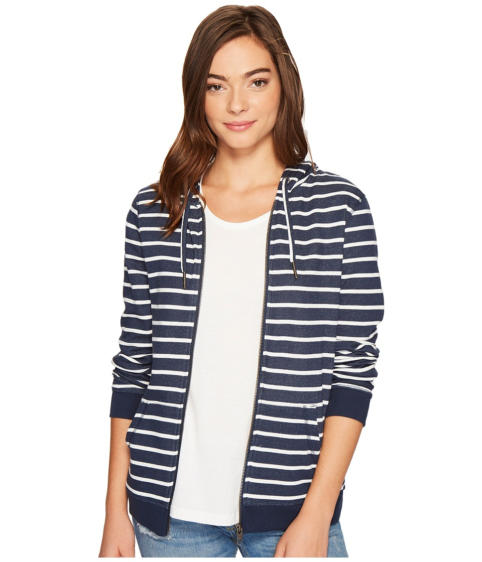 Roxy Trippin Stripe Zip Hoodie (Dress Blues Signature Stripe) Women