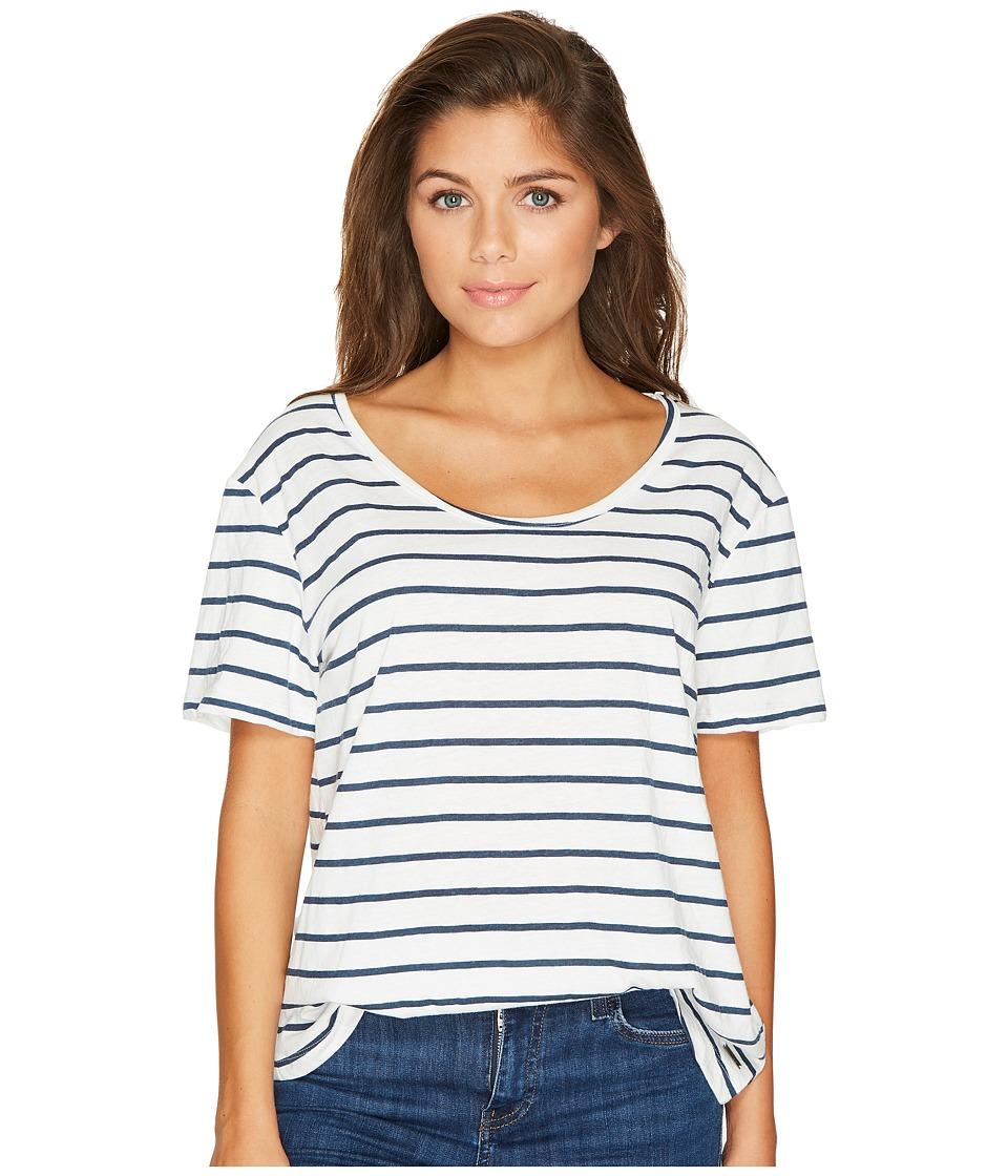 Roxy Just Simple Stripe Tee (Marshmallow Lexi Stripe) Women