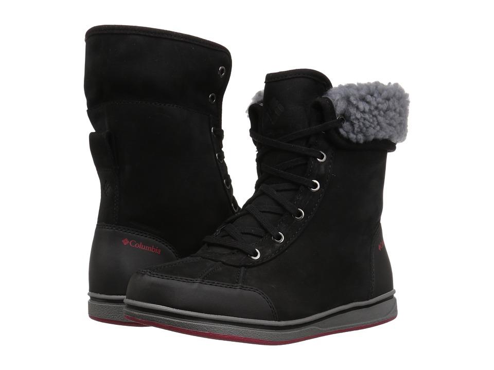 Columbia Kids Bangor (Little Kid/Big Kid) (Black/Mountain Red) Girls Shoes