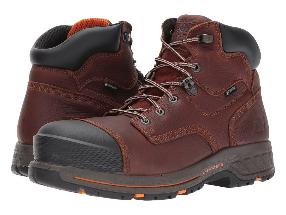 Timberland PRO - Helix 6 HD Composite Safety Toe Waterproof BR (Tempest Full Grain Leather) Mens Work Lace-up Boots