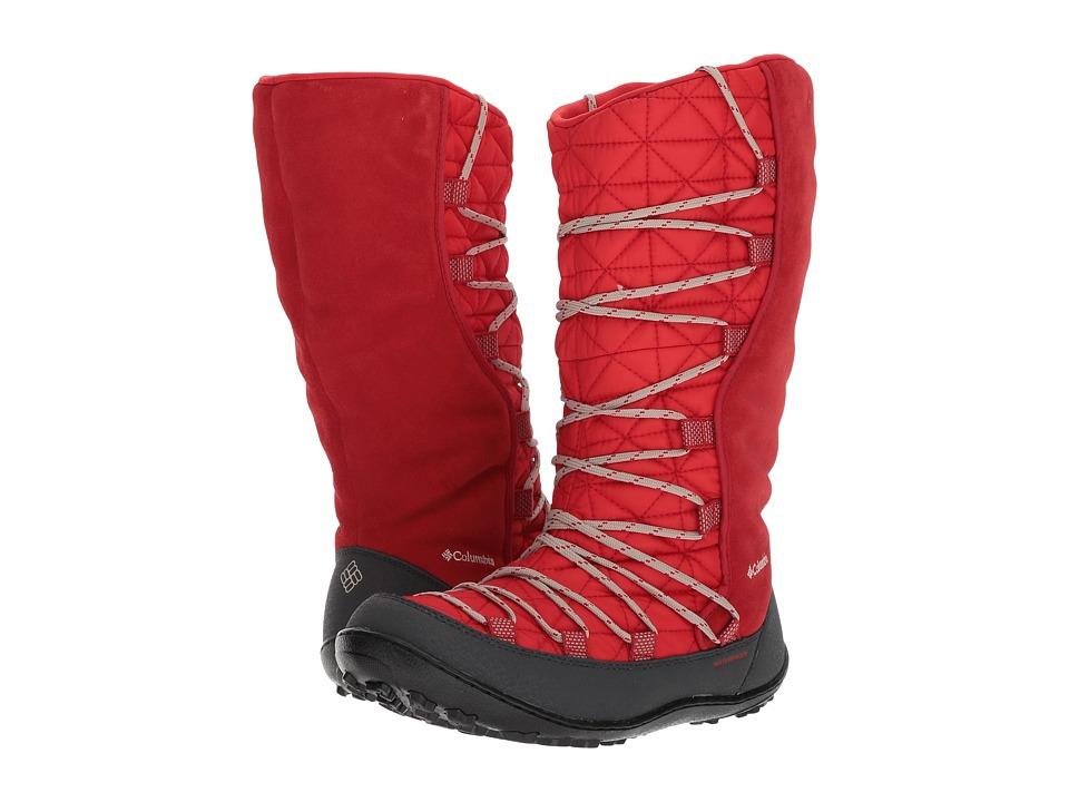 Columbia Kids Loveland Omni-Heat (Little Kid/Big Kid) (Bright Red/Ancient Fossil) Girls Shoes