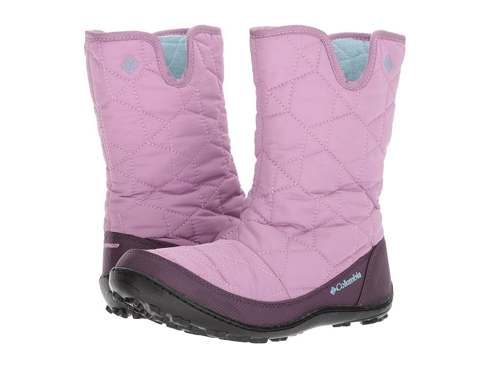 Columbia Kids Minxtm Slip Omni-Heattm Waterproof Boot (Little Kid/Big Kid) (Violet Haze/Oxygen) Girls Shoes