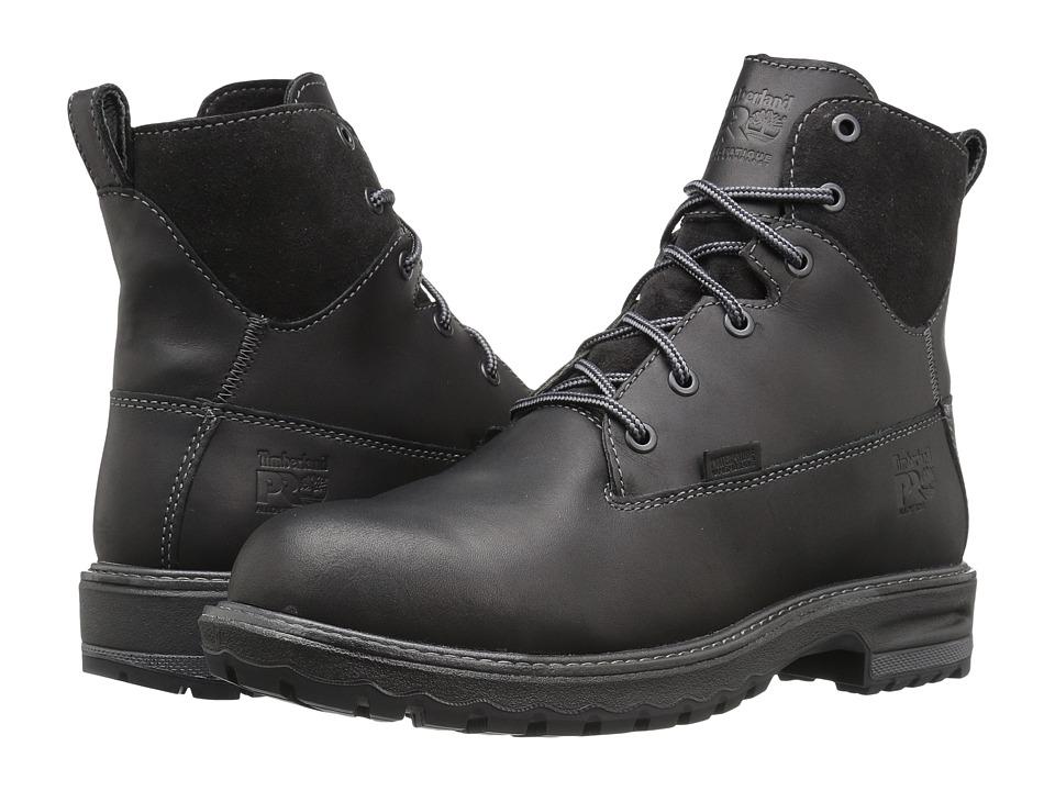 Timberland PRO Hightower 6 Alloy Safety Toe Waterproof (Black Full Grain Leather) Women