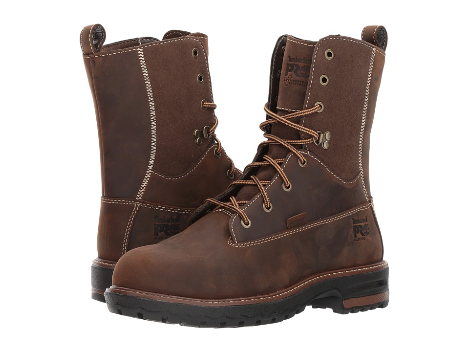 Timberland PRO - Hightower 8 Alloy Safety Toe Waterproof (Kaffe Full Grain Leather) Womens Work Lace-up Boots