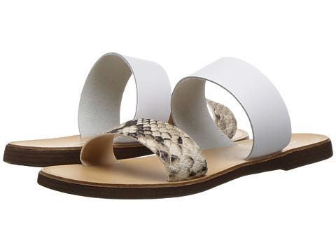 Massimo Matteo Snake 2 Band Sandal - Snake/White