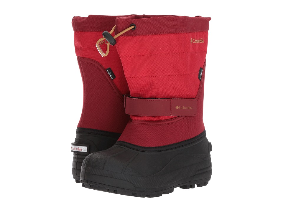 Columbia Kids Powderbug Plus II (Toddler/Little Kid/Big Kid) (Mountain Red/Maple) Kids Shoes