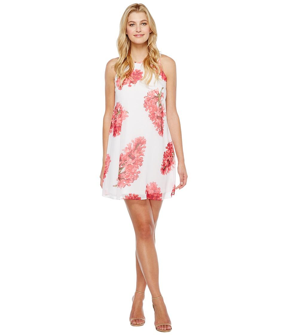 Calvin Klein Floral Trapiz Dress CD7H639D (Coral Multi) Women