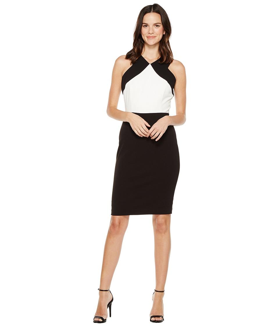 Calvin Klein Color Block Sheath Dress CD7C143C (Black/White) Women
