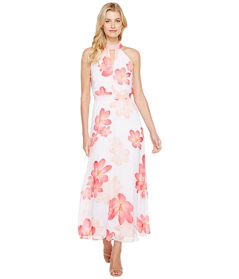 Calvin Klein Halter Neck Chiffon Maxi Dress
