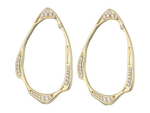 Kendra Scott Livi Stud Earrings - Gold/White CZ
