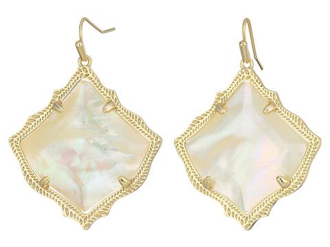 Kendra Scott Kirsten Earrings - Gold/Ivory Mother-of-Pearl