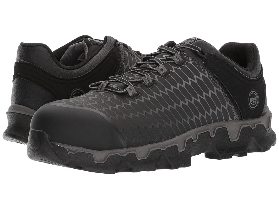 Timberland PRO - Powertrain Sport Alloy Safety Toe EH (Black Raptek) Mens Industrial Shoes