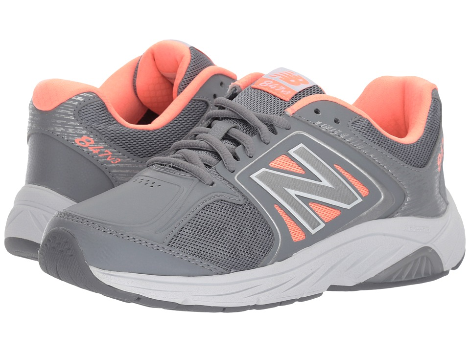 New Balance WW847v3 (Grey/Pink) Walking Shoes