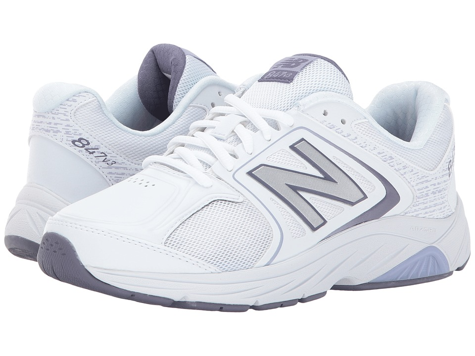 New Balance WW847v3 (White/Grey) Walking Shoes