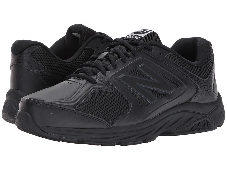 New Balance MW847v3 (Black/Black) Men's Walking Shoes