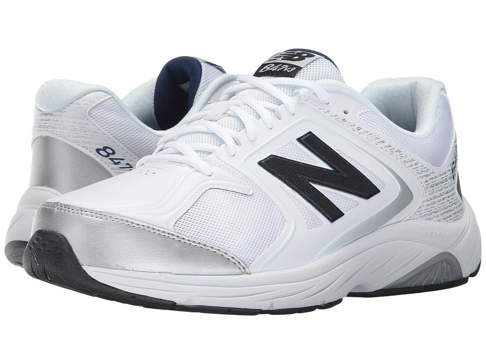New Balance MW847v3 (White/Grey) Men's Walking Shoes