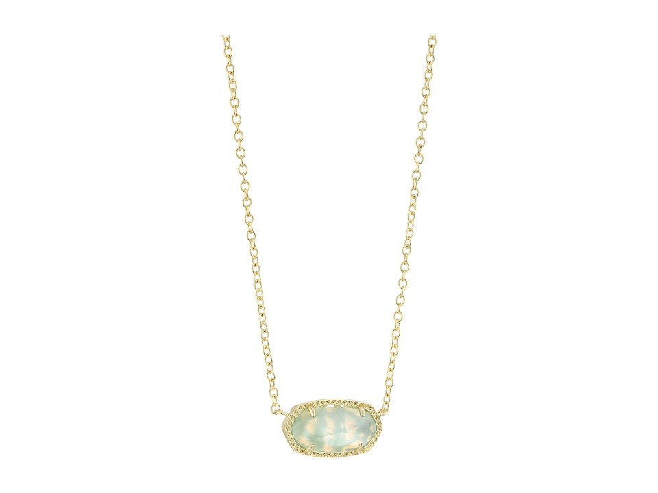 Kendra Scott Elisa Birthstone Necklace (March/Gold/Light ...