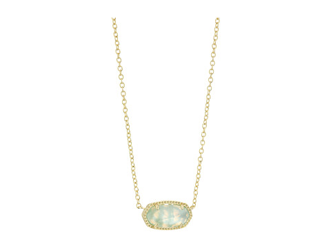 Kendra Scott Elisa Birthstone Necklace - March/Gold/Light Blue Illusion