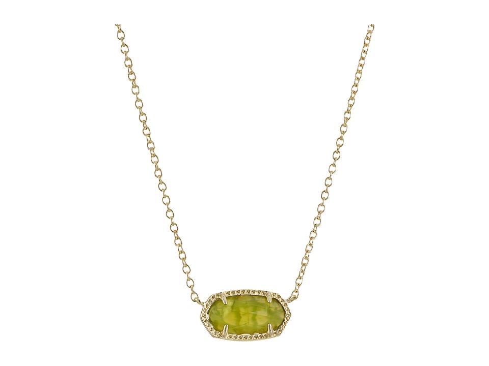 Kendra Scott Elisa Birthstone Necklace (August/Gold/Perid...