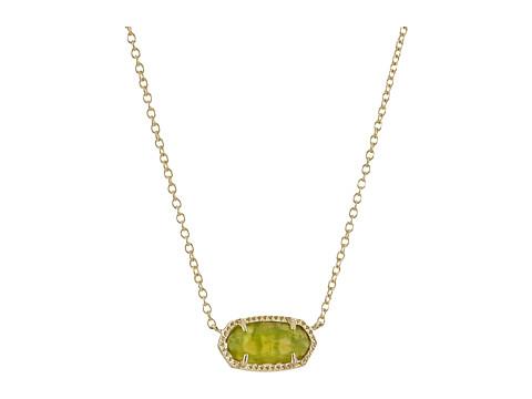 Kendra Scott Elisa Birthstone Necklace - August/Gold/Peridot Illusion