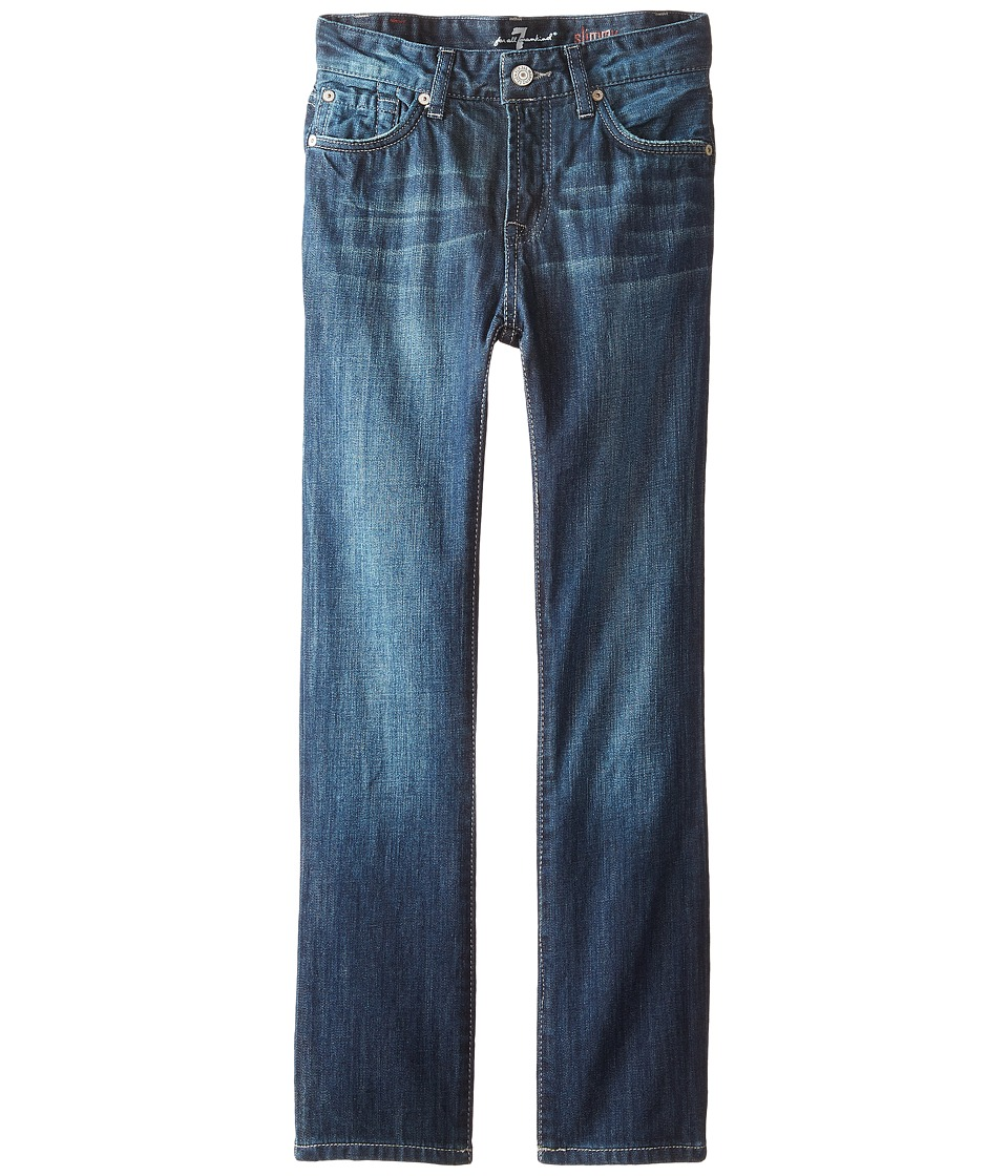 7 For All Mankind Kids The Slimmy Jeans Dark Indigo in Los Angeles Dark (Toddler) (Los Angeles Dark) Boy