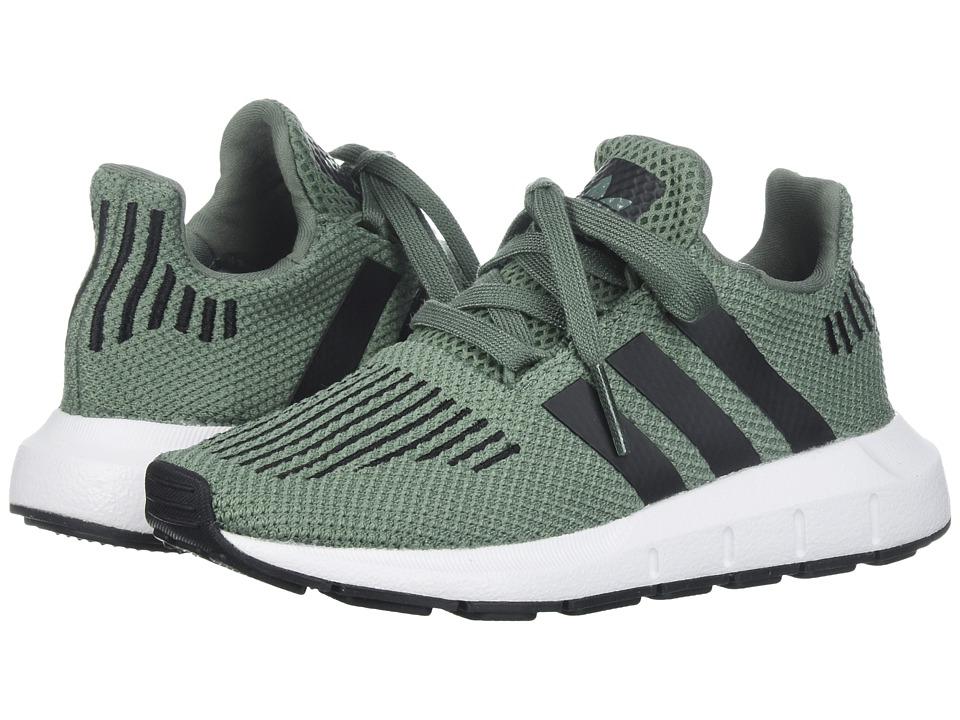 adidas Originals Kids Swift Run (Little Kid) (Trace Green/Black/White) Boys Shoes
