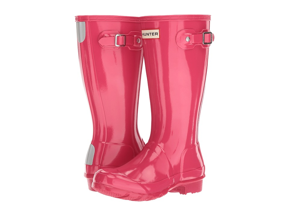 Hunter Kids - Original Kids Gloss Rain Boot (Little Kid/Big Kid) (Bright Pink) Kids Shoes