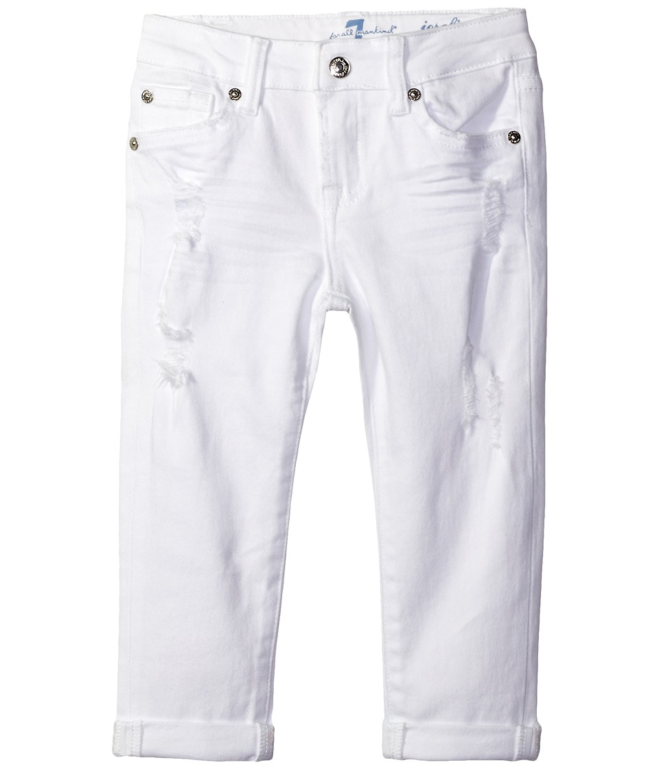 7 For All Mankind Kids - Josefina Boyfriend Jeans in Destructed White