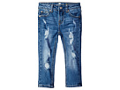 7 For All Mankind Kids - Skinny Crop & Roll Jeans in Rigid Blue Orchid (Big Kids)